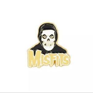 Misfits Crimson Ghost Logo Lapel Jacket Flair Pin